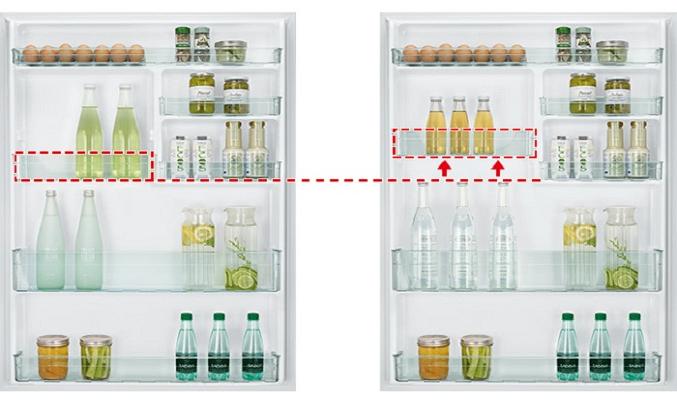 Tủ lạnh Hitachi Inverter 550 lít R-FG690PGV7X (GBK) - Ngăn cửa có thể điều chỉnh linh hoạt