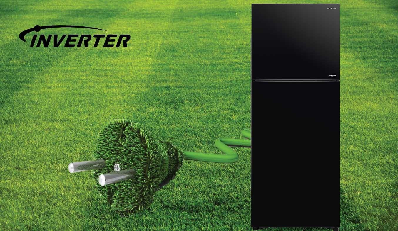 Tủ lạnh Hitachi Inverter 349 lít R-FVY480PGV0 (GBK) - Công nghệ Inverter