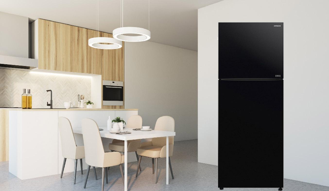 Tủ lạnh Hitachi Inverter 349 lít R-FVY480PGV0 (GBK) - Thiết kế sang trọng