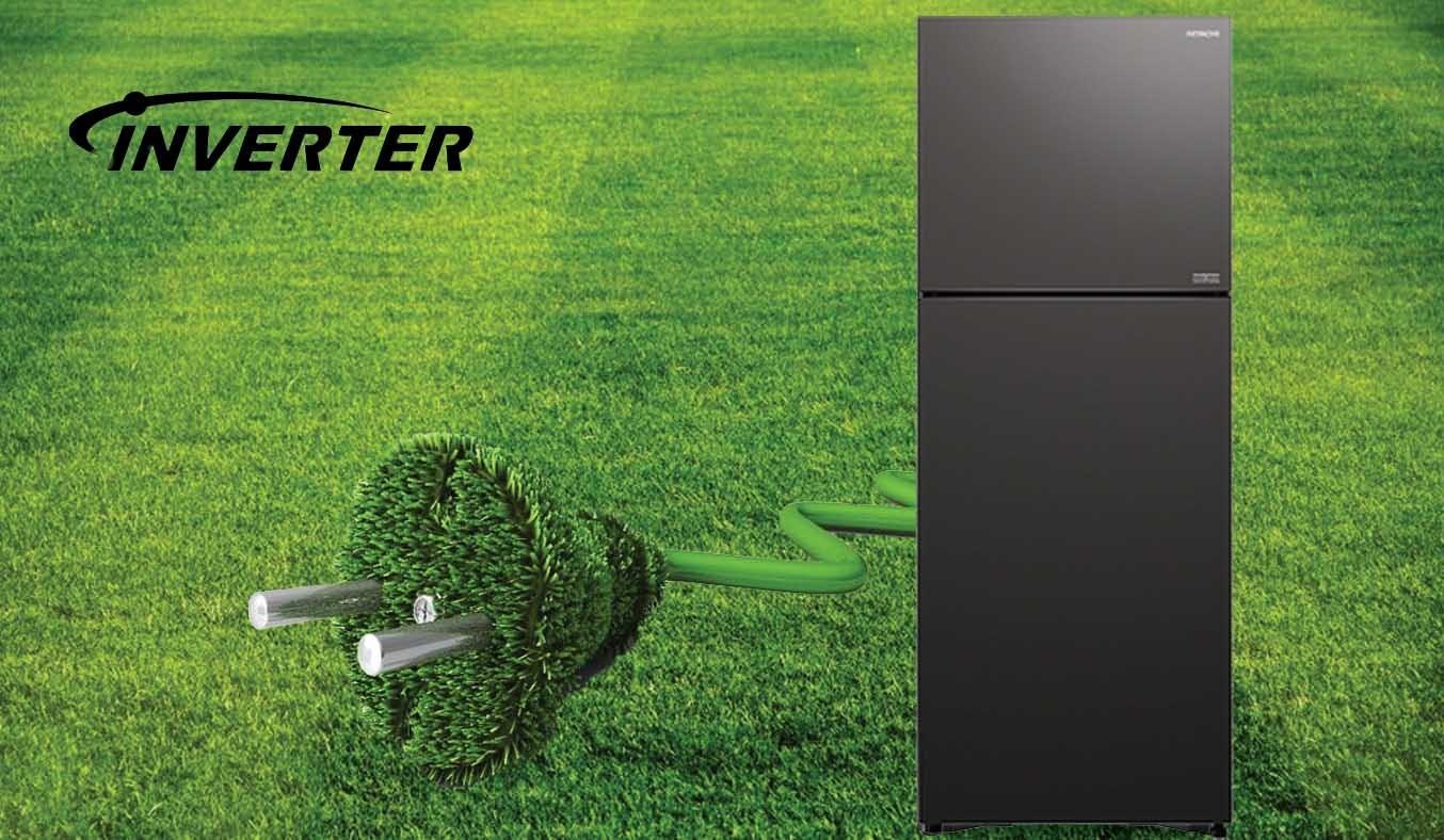 Tủ lạnh Hitachi Inverter 349 lít R-FVY480PGV0 (GMG) - Công nghệ Inverter