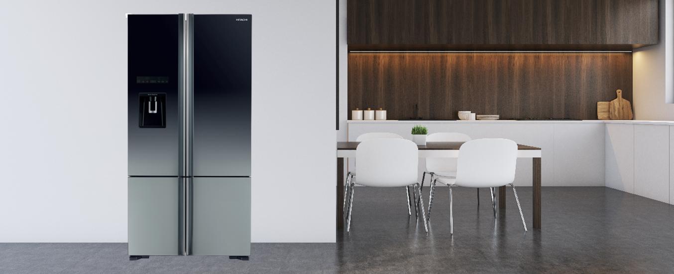 Tủ lạnh Hitachi Inverter 647 Lít R-FWB780PGV6X (XGR) - Thiết kế mặt kính sang trọng, nâng tâm không gian của bạn
