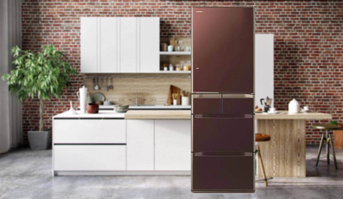 Tủ lạnh Hitachi R-E5000V 529 lít đen bán trả góp 0% tại nguyenkim.com