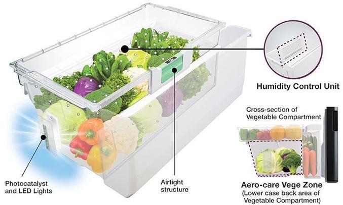 Tủ lạnh Hitachi R-E6200V 657 lít giữ ẩm toốt