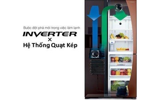 Tủ lạnh Hitachi 600 lít R-M700PGV2 có công nghệ Inverter