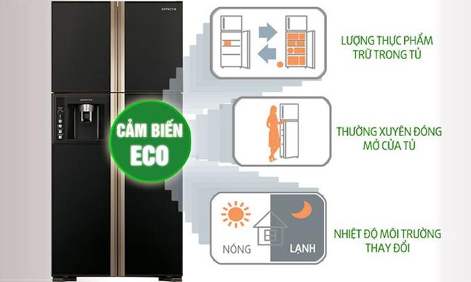 Tủ lạnh HitachiR-W660FPGV3X làm lạnh nhanh