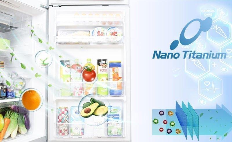 Tủ lạnh Hitachi R-WB475PGV2 kháng khuẩn khử mùi