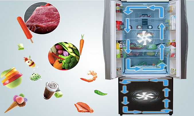 Tủ lạnh Hitachi R-WB545PGV2 455 lít nâu hệ thống quạt kép