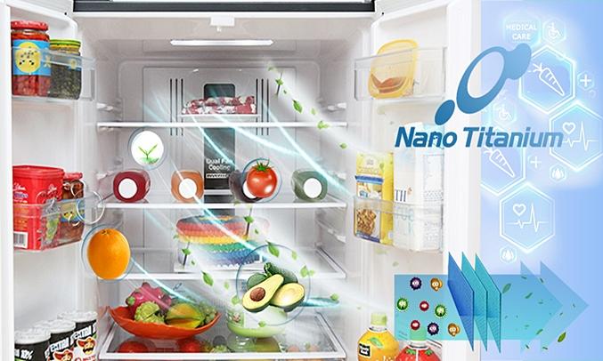 Tủ lạnh Hitachi R-WB545PGV2 455 lít kháng khuẩn khử mùi