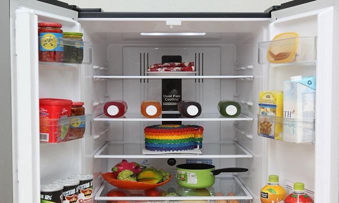 Tủ lạnh Hitachi R-WB545PGV2 455 lít nâu khay kính chịu lực
