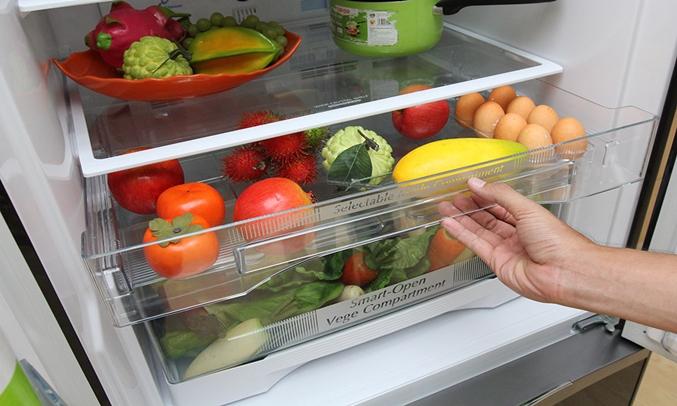 Tủ lạnh Hitachi R-WB545PGV2 455 lít nâu ngăn rau quả rộng