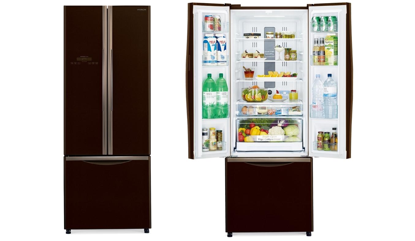 Tủ lạnh Hitachi R-WB545PGV2 455 lít nâu dung tích khủng tiết kiệm điện