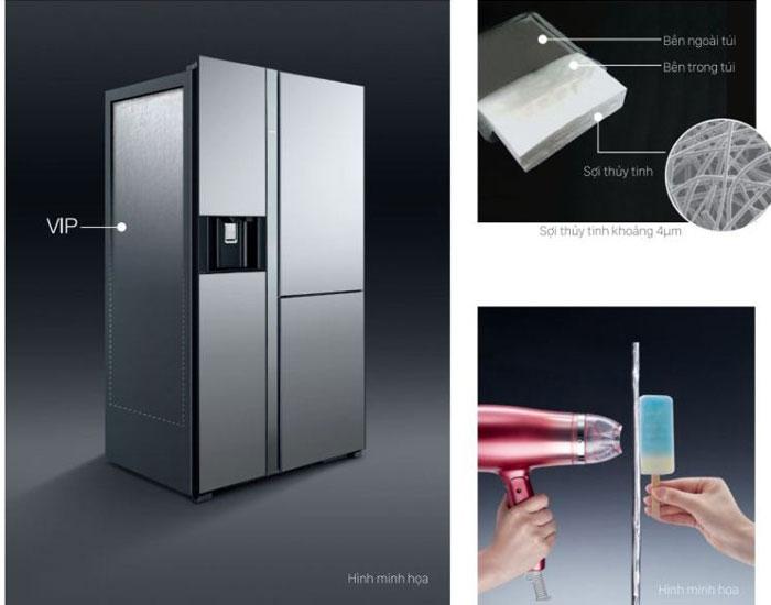 Tấm cách nhiệt chân không VIP được thiết kế trong các vách bên của tủ lạnh Hitachi