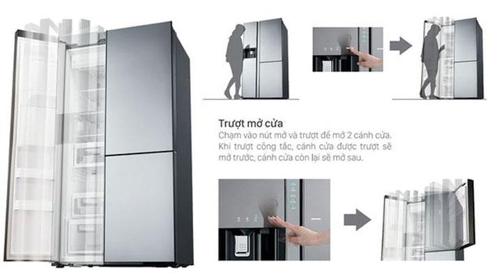 Cửa tủ lạnh Hitachi tự động giúp việc thao tác mở cửa dễ dàng hơn