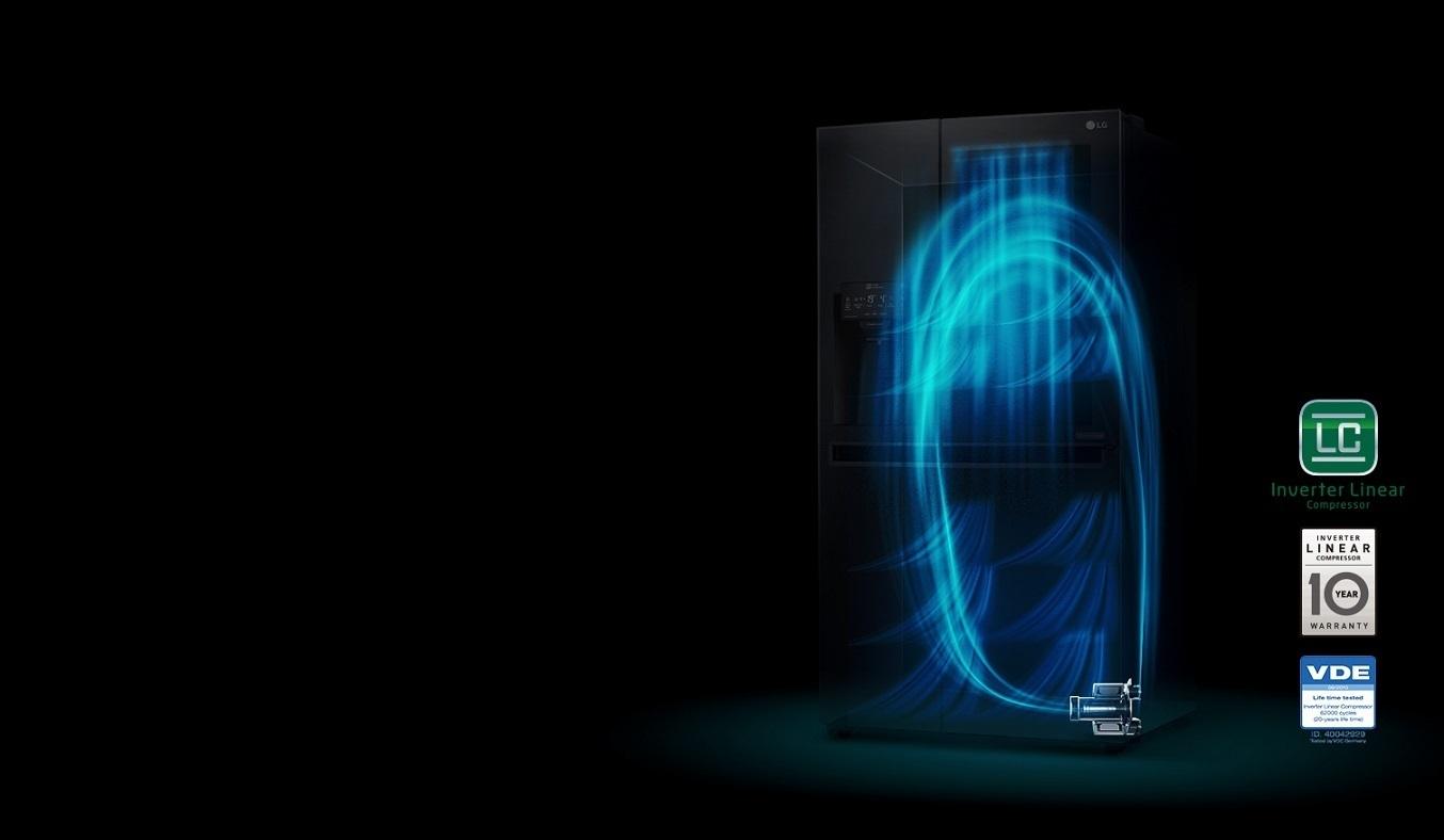 Tủ lạnh LG Inverter 601 lít GR-X247JS tiết kiệm điện