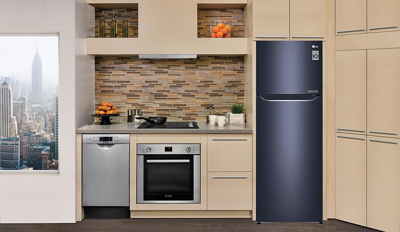 Tủ lạnh LG 255 lít GN-L255PN1 có thiết kế đơn giản, sang trọng