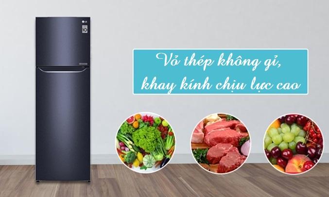 Tủ lạnh LG 255 lít GN-L255PN bền bỉ, chất lượng