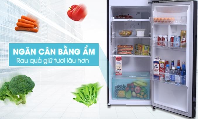 Tủ lạnh LG 255 lít GN-L255PN giúp rau quả luôn mọng nước