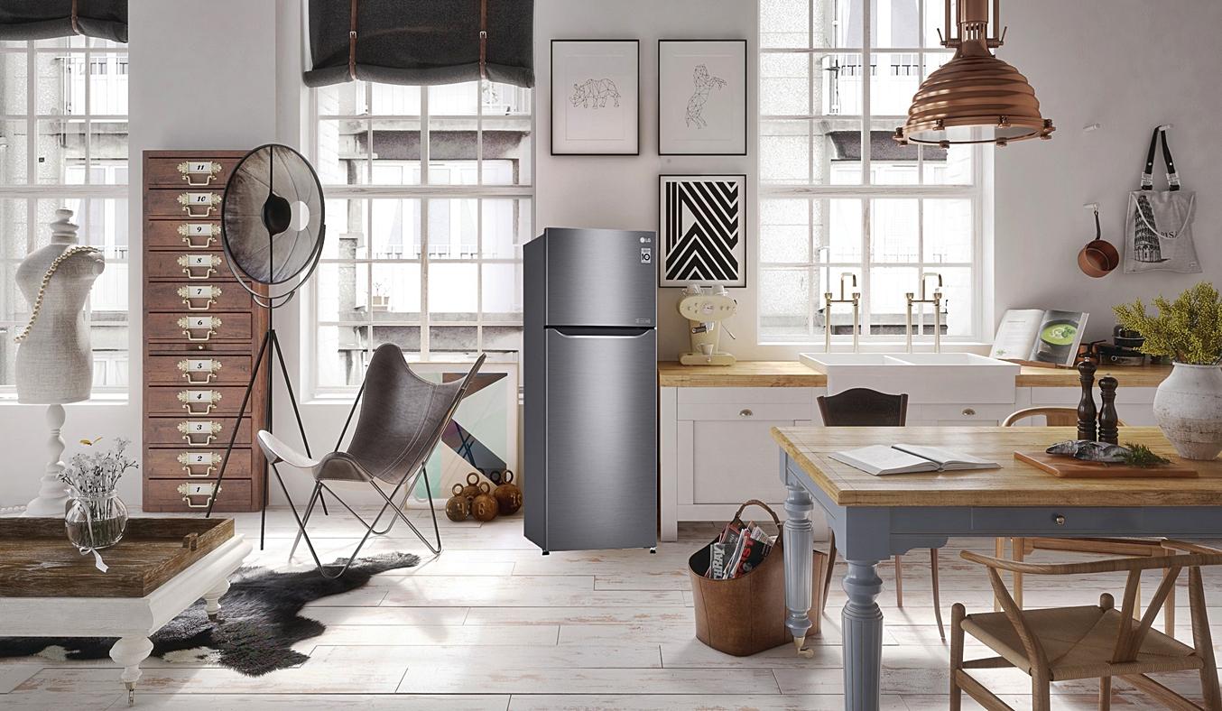Tủ lạnh LG 315 lít GN-L315PS có thiết kế tinh tế, sang trọng