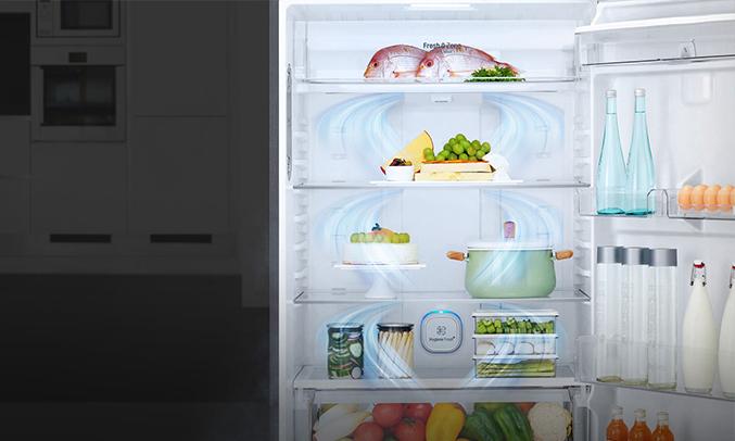 Tủ lạnh GN-L602S khử mùi hiệu quả