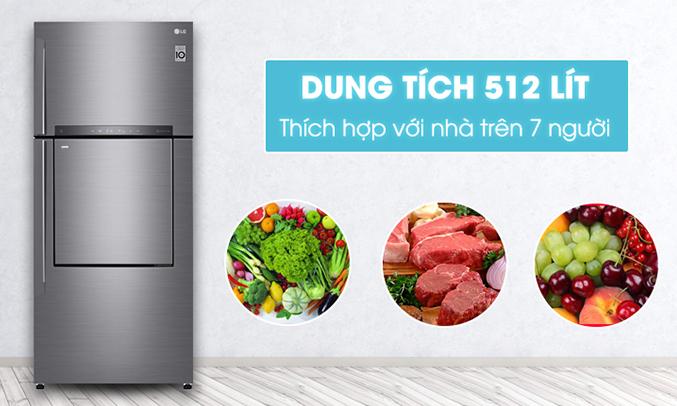 Tủ lạnh LG 512 lít GN-L702SD dung tích lớn