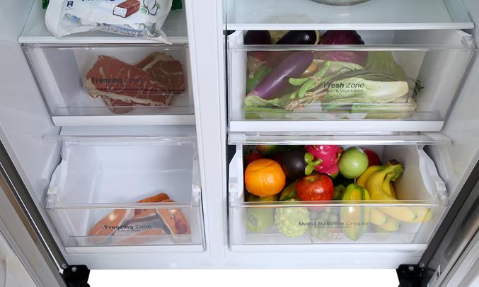 Tủ lạnh LG 626 lít GR-B247JS có hệ thống làm lạnh đa chiều