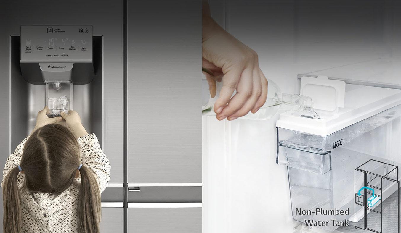 Tủ lạnh loại nào tốt? Tủ lạnh LG GR-D247JS 601 lít thiết kế hiện đại