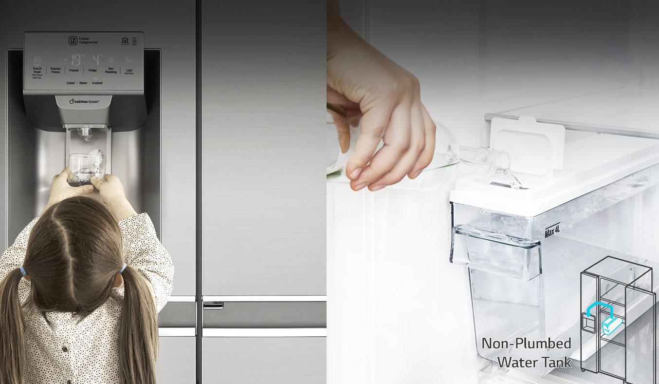 Tủ lạnh LG GR-P247JS 601 lít thích hợp nhiều không gian