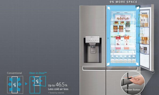 Tủ lạnh LG GR-P247JS 601 lít có ngăn lấy đá, nước bên ngoài