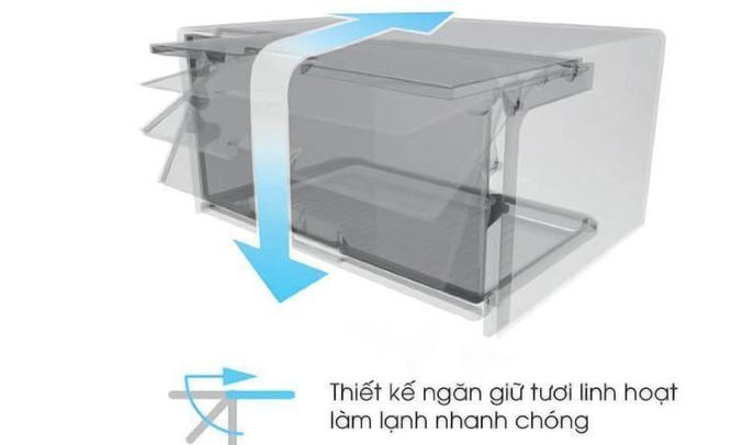 Tủ lạnh Sharp 314 lít SJ-X316E-SL linh hoạt