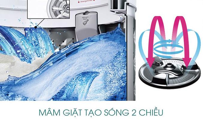 Máy giặt Panasonic 9KG NA-F90V5LRV mâm giặt tạo sóng 2 chiều