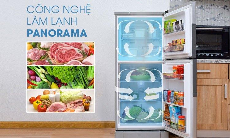 Tủ lạnh Panasonic 135 Lít NR-BJ158SSV1 làm lạnh đa chiều, bảo quản thực phẩm an toàn
