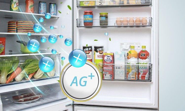 Tủ lạnh Panasonic 135 Lít NR-BJ158SSV1 kháng khuẩn, khử mùi hội vượt trội