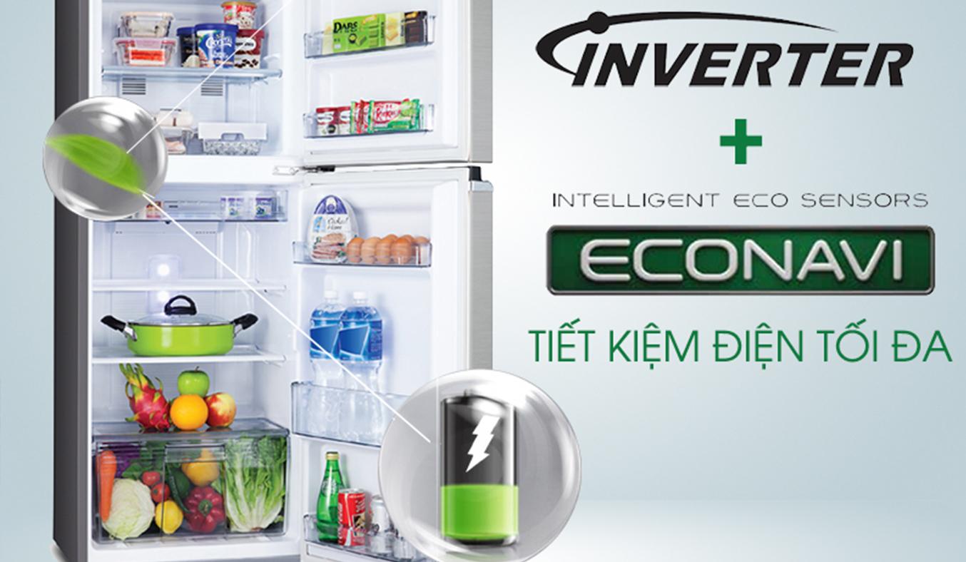 Tủ lạnh Panasonic 152L NR-BA178VSV1 tiết kiêmj điện năng