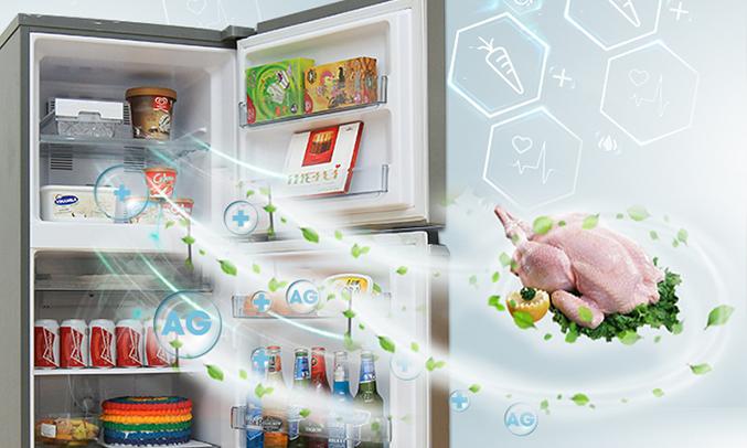 Tủ lạnh Panasonic 152L NR-BA178VSV1 khử mùi diệt khuẩn
