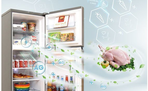 Tủ lạnh Panasonic NR-BA228PKVN khử mùi, kháng khuẩn