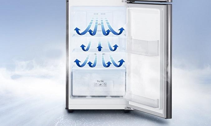 Tủ Lạnh Samsung Inverter 208 lít RT19M300BGS - Luồng khí lạnh đa chiều