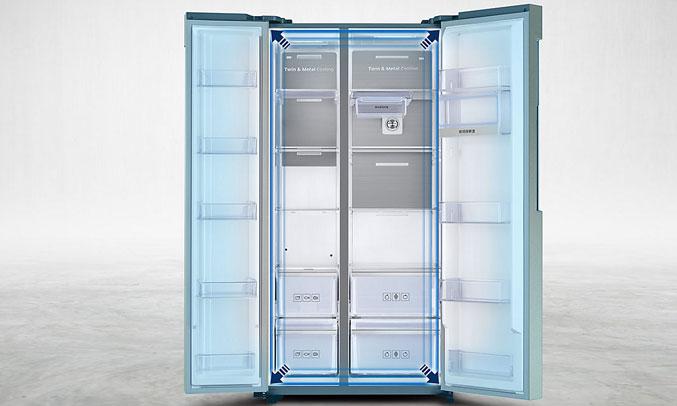 Tủ lạnh SBS Samsung RS58K6417SL/SV dung tích lớn