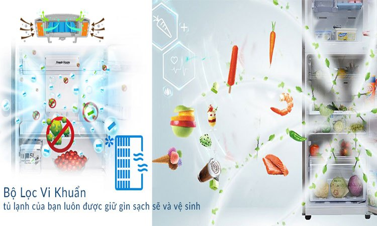 Tủ lạnh Samsung 208L RT20HAR8DSA kháng khuẩn khử mùi vượt trội