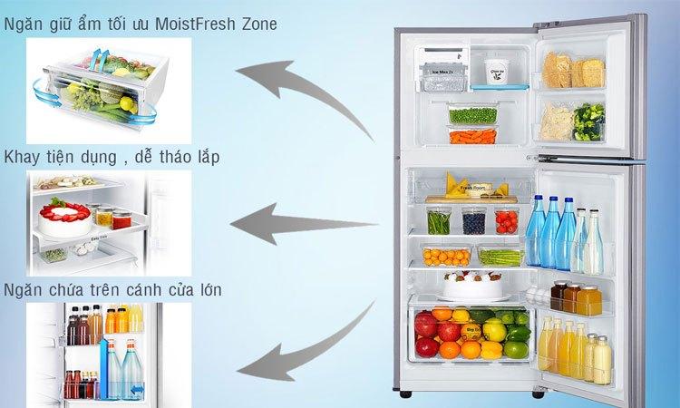 Tủ lạnh Samsung 208L RT20HAR8DSA hệ thống khay kệ bền bỉ