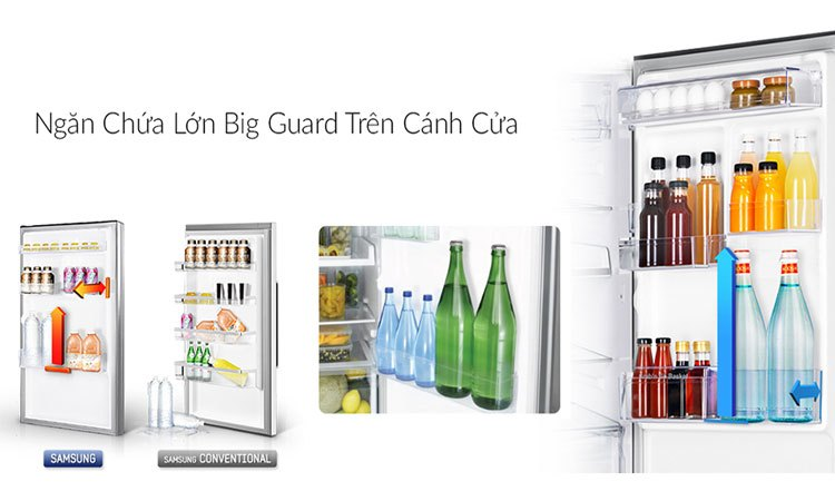 Tủ lạnh Samsung 208L RT20HAR8DSA chứa đựng thức uống, đồ ăn thoải mái