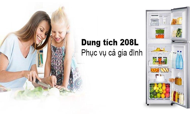Tủ lạnh Samsung 208L RT20K300ASE dung tích 208 lít