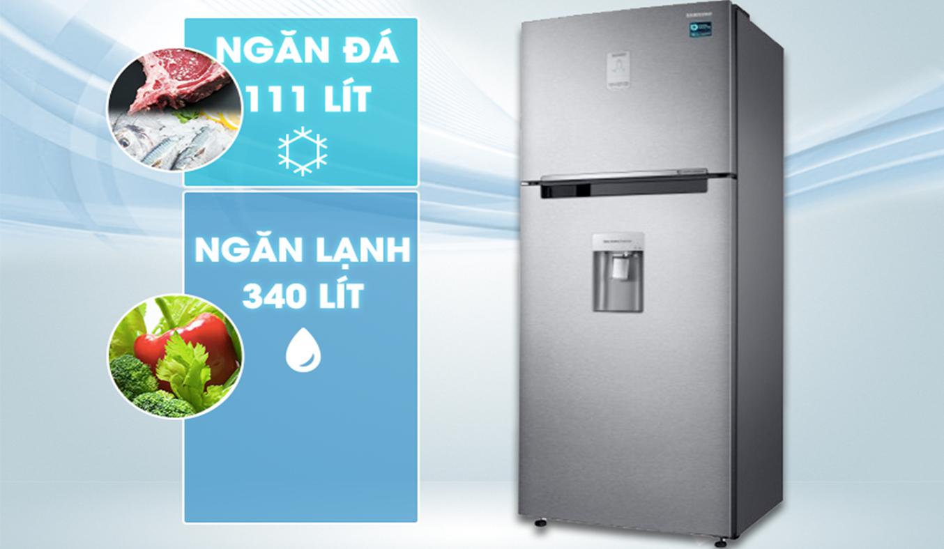 Tủ lạnh Samsung RT46K6836SL dung tích lớn