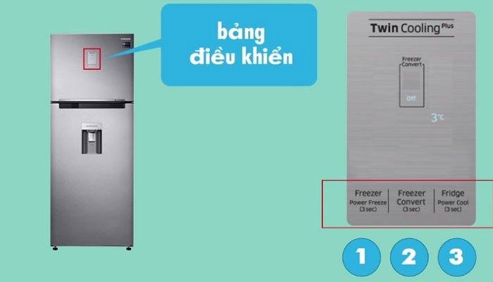 3 nút quen thuộc trên dòng tủ lạnh Samsung sở hữu công nghệ Twin Cooling Plus