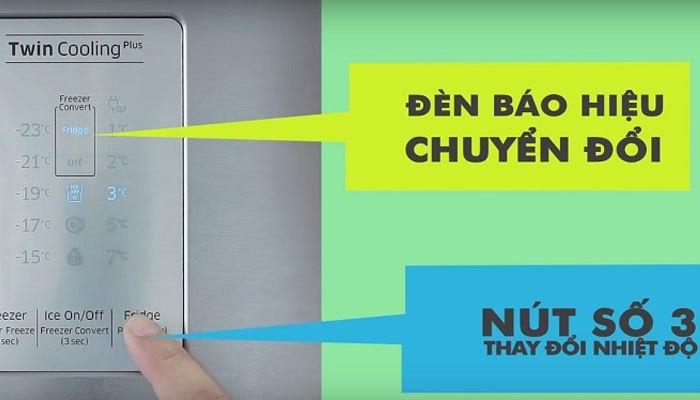 Bạn chỉ nên chọn chế độ chuyển đổi này khi có quá nhiều thực phẩm cần lưu trữ ngăn mát tủ lạnh Samsung thôi nhé!