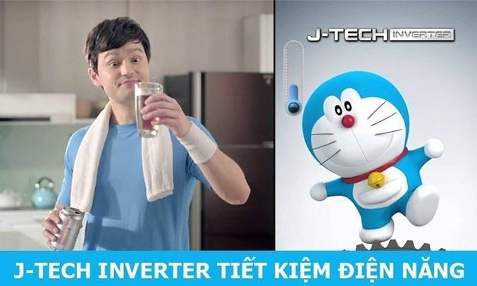 Tủ lạnh Sharp Inverter 253 lít SJ-X281E-SL tiết kiệm điện đến 46%
