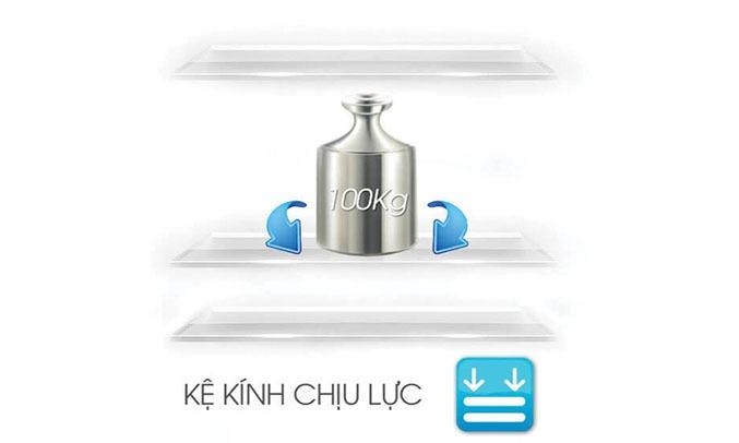 Tủ lạnh Sharp Inverter 678 lít SJ-FX688VG-BK ngăn kệ chịu lực