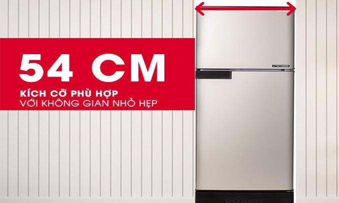 Tủ lạnh Sharp Inverter 165 lít SJ-X176E-DSS - Kích cỡ phù hợp với những không gian nhỏ hẹp