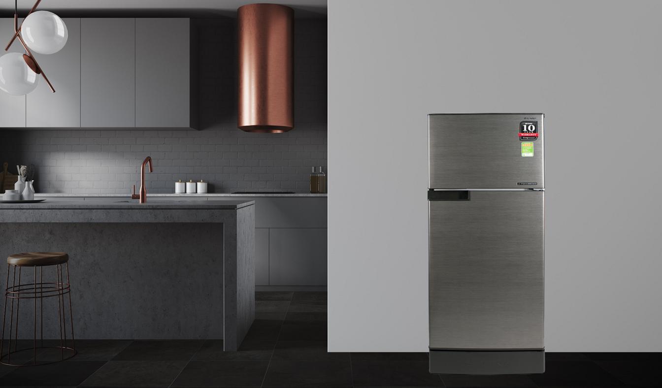 Tủ lạnh Sharp Inverter 165 lít SJ-X176E-DSS - Khử mùi, diệt khuẩn vô cùng hiệu quả