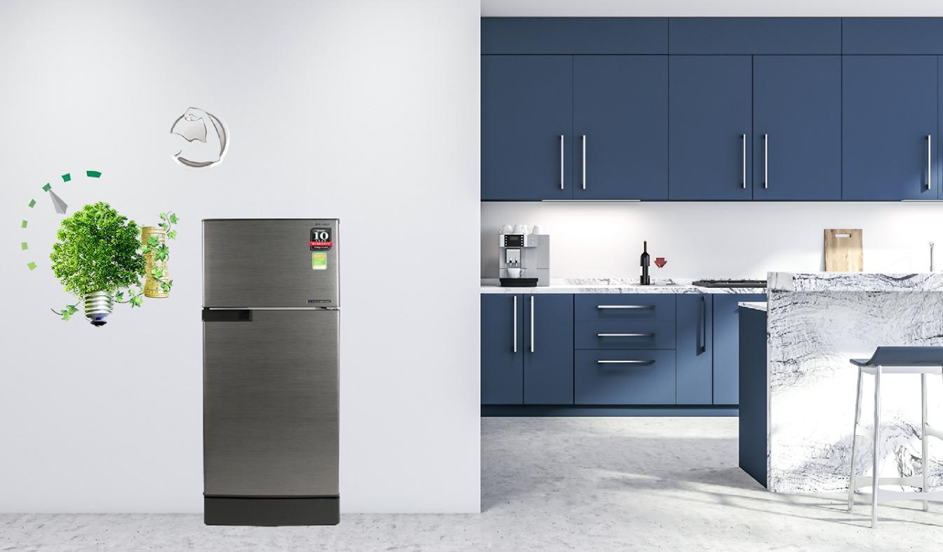 Tủ lạnh Sharp Inverter 165 lít SJ-X176E-DSS Công nghệ J-tech Inverter tiết kiệm điện năng