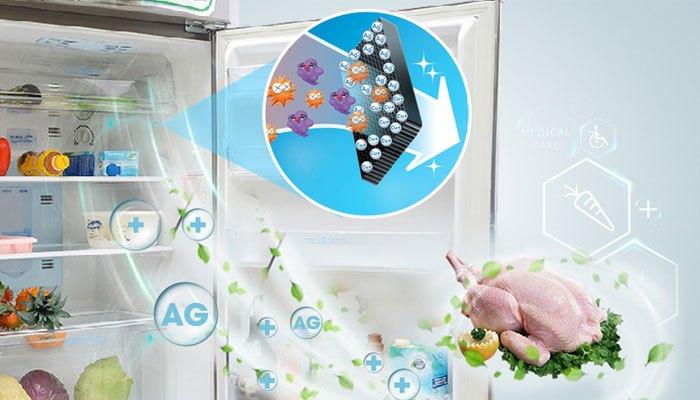 Tủ lạnh Sharp 342 lít SJ-X346E-SL khử mùi hôi hiệu quả nhờ bộ lọc Ag+Cu cải tiến
